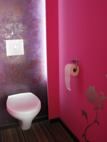 Transformation maison de ville montpellier la grande for Decoration wc peinture